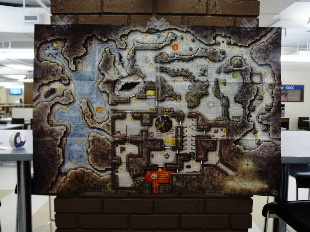 The Map of the Vault of the Dracolich